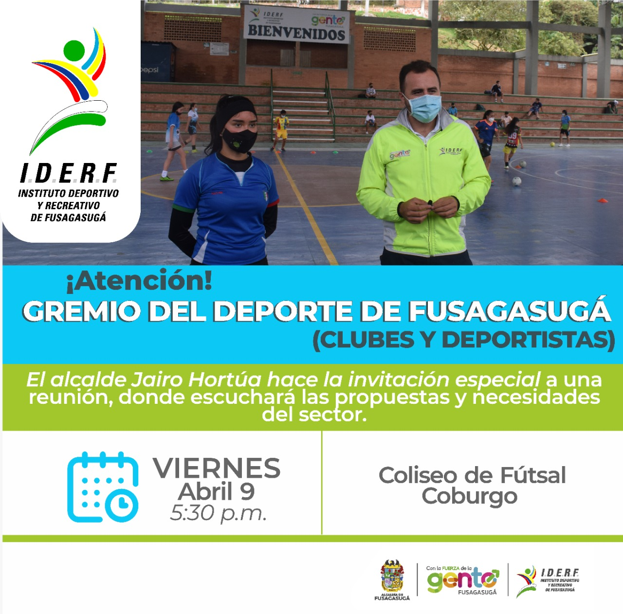 Alcalde Jairo Hortúa se reunirá con sector deporte de Fusagasugá.